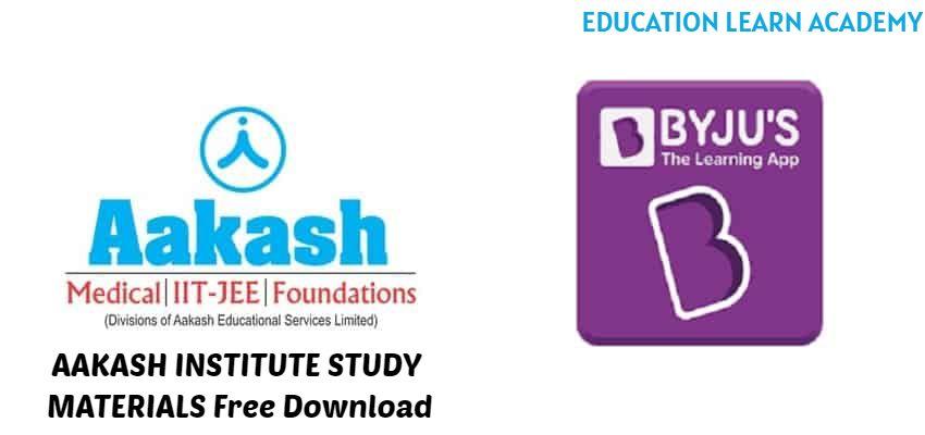 AAKASH INSTITUTE STUDY MATERIALS Free Download