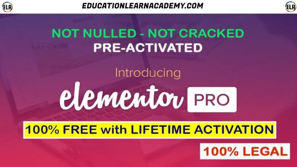Free Download Elementor Pro Latest Version