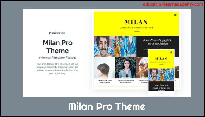Free Download Milan Pro Theme by StudioPress [ Latest version