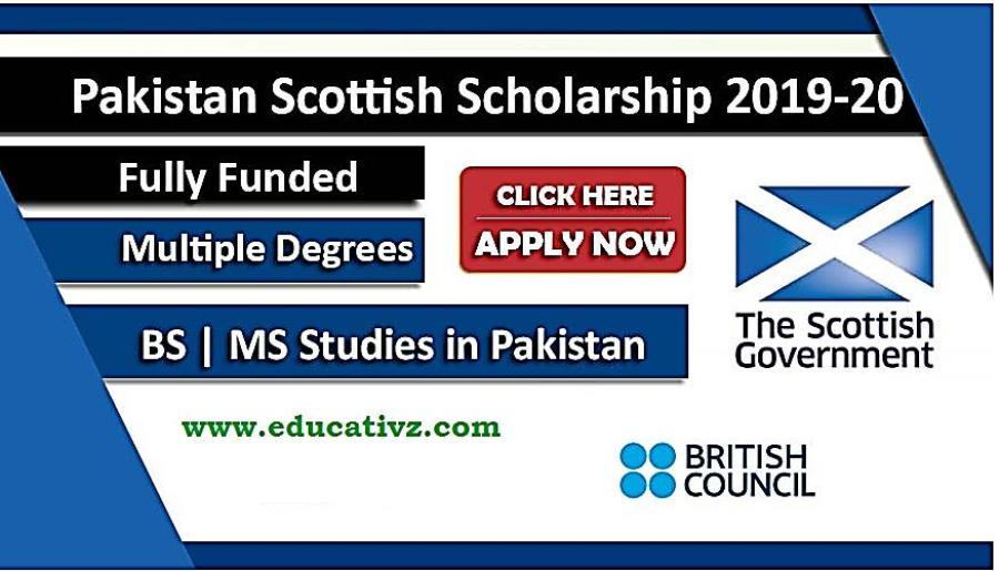 Pakistan Scottish Scholarship 2019-20