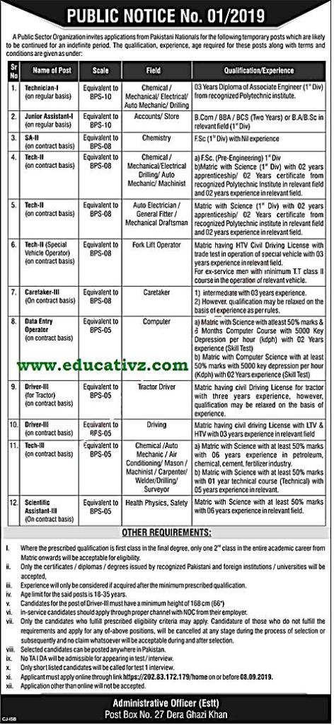 PO Box 27 Jobs PAEC - Educational Learning Point