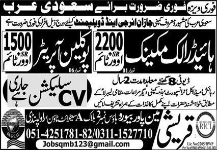 Express epaper Jobs 2021 for Saudi Arab Advertisement