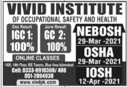 VIVAD Institute Of Occupational Safety & Health Admissions 2021