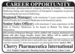 Cherry Pharmaceutica International jobs 2021