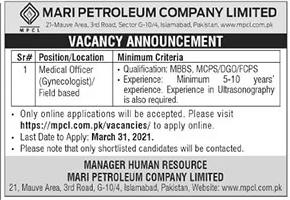 Mari Petroleum Company (MPCL) Jobs 2021 Apply Online mpcl.com.pk