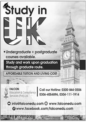 Falcon Education & Consultancy Services (study in UK) Admissions 2021