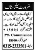 Private Jobs in Lahore for Male and Female Sales & Helper Staff