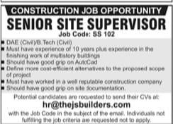 Senior Site Supervisor Jobs April 2021 Advrts