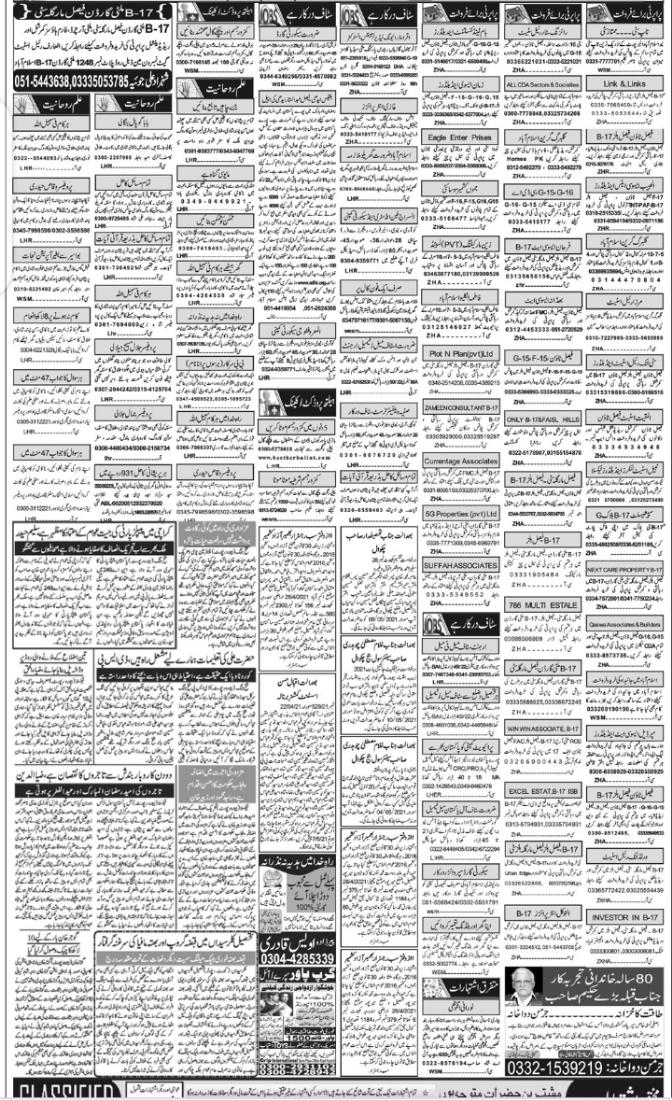 Latest Classified Jobs Punjab May 2021 advertisement