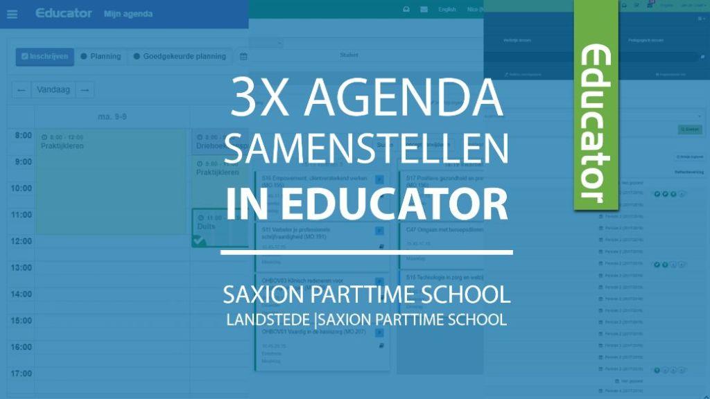 3x agenda samenstellen in Educator – Eigen studie plannen met het Planbord