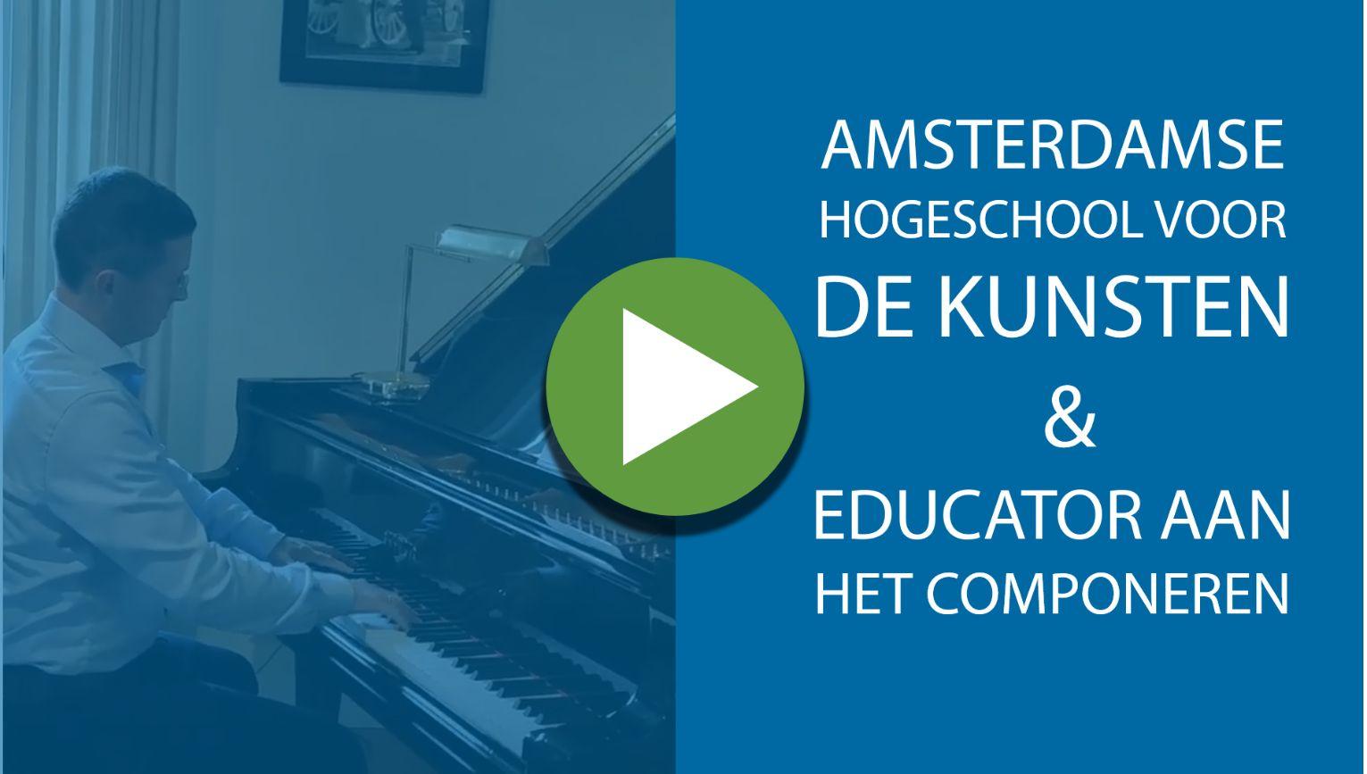 De Amsterdamse Hogeschool voor de Kunsten componeert samen met Educator