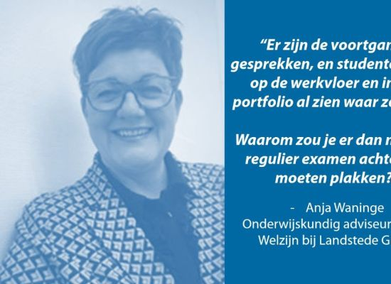 Quote door Anja Waninge van Landstede