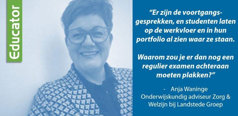 Quote door Anja Waninge van Landstede