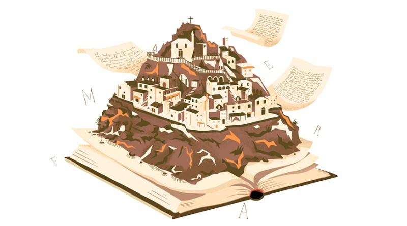 Illustrazione Libri tra i Sassi