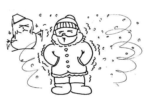Dibujo para colorear 013b. Frío - invierno