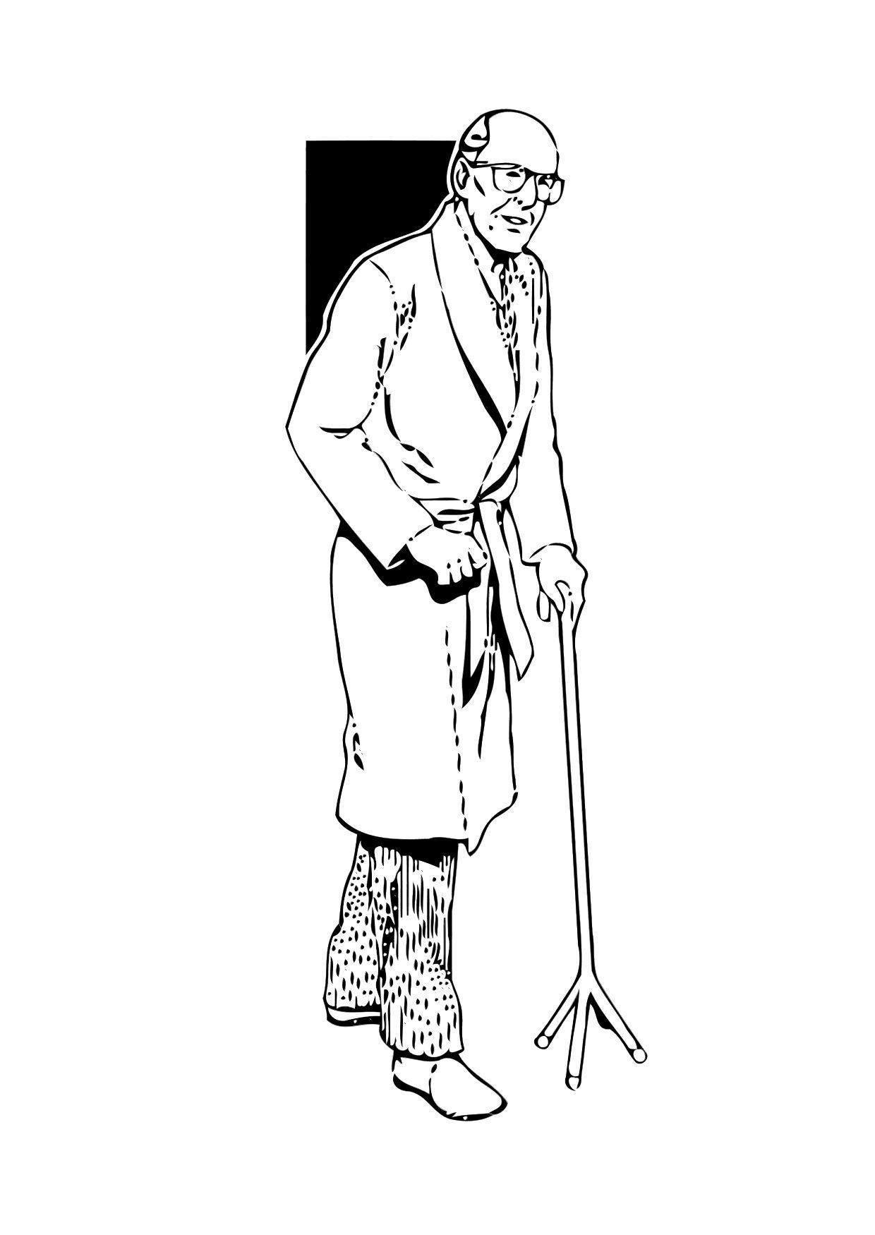 Dibujo Para Colorear Anciano Img 11347