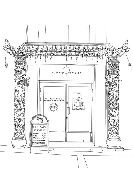 dibujo para colorear restaurante chino  img 2