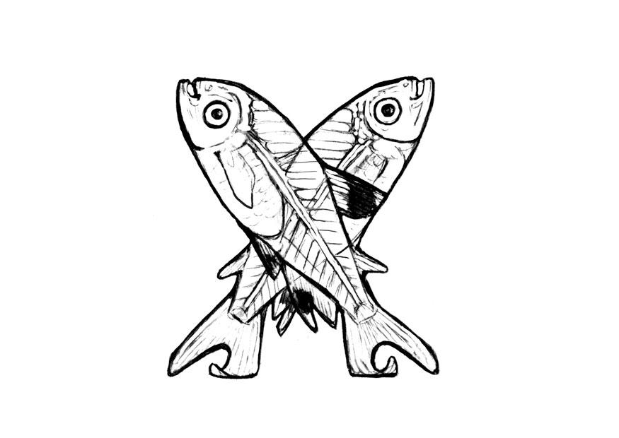 Dibujo Para Colorear X X Ray Fish Img 24821