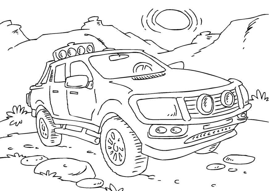 Disegno Da Colorare Camion Pick Up Cat 27166