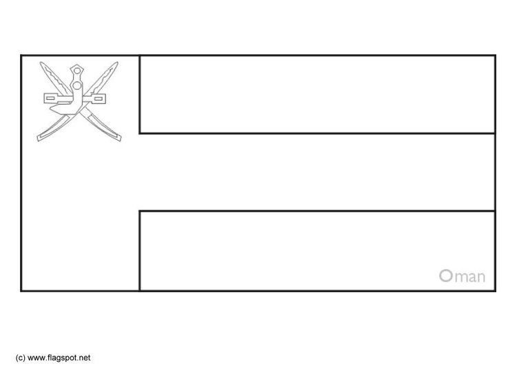 oman flag colouring pages page 2