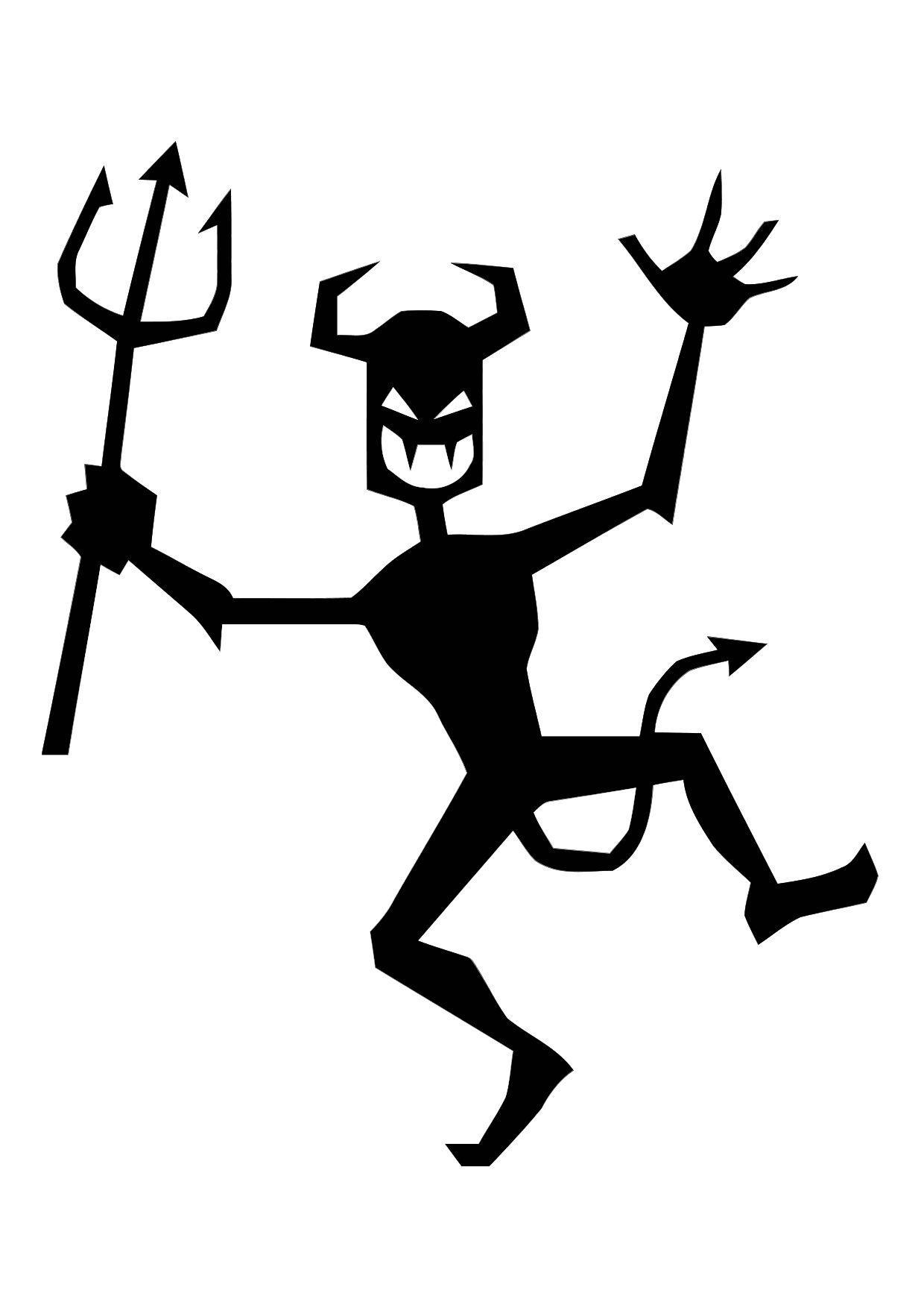 Pagina Para Colorir Diabo Dancante