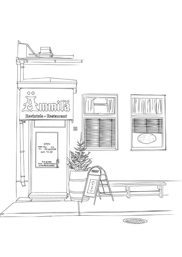 Dibujos De Restaurantes