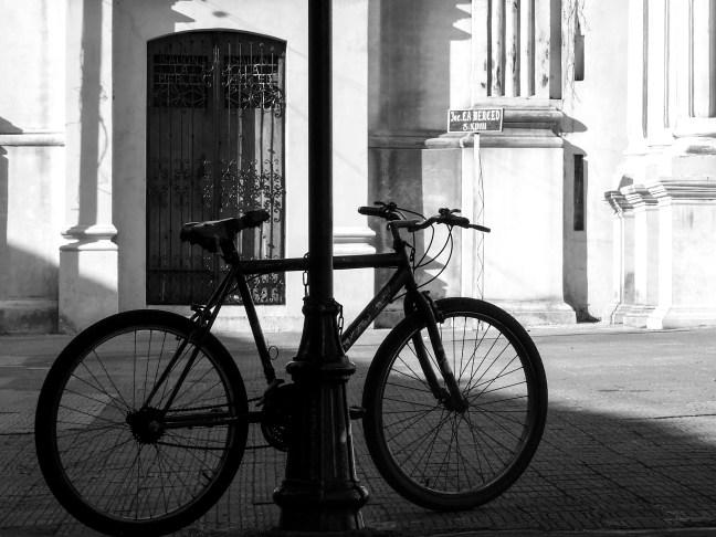 The bicycle The Merced Church, Leon, Nicaragua