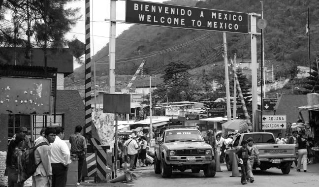 Bienvenidos a México Ciudad Cuahtémoc, México desde La Mesilla, Guatemala