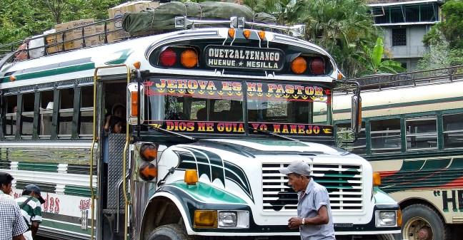 Bus to the Mexican Border   La Mesilla, Huehuetenango, Guatemala
