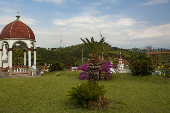 Vista del cementerio Marsella, Risaralda, Colombia