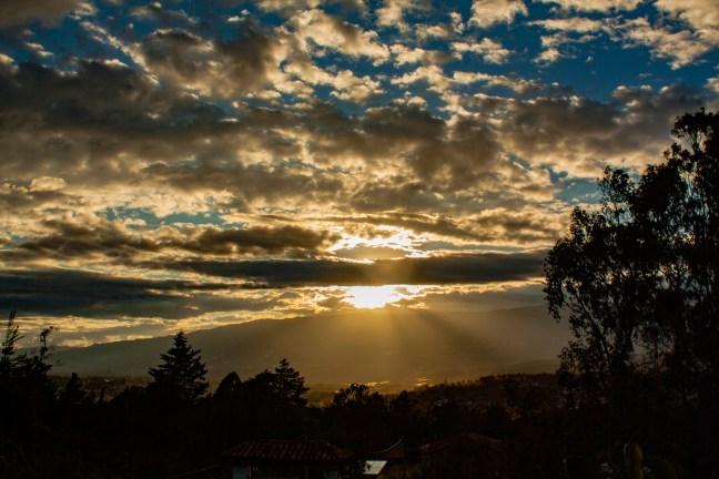 Atardecer del altiplano Hostal Renacer, Villa de Leyva, Boyacá, Colombia