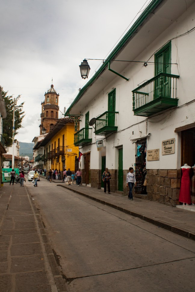 Vista del centro San Gil, Santander, Colombia