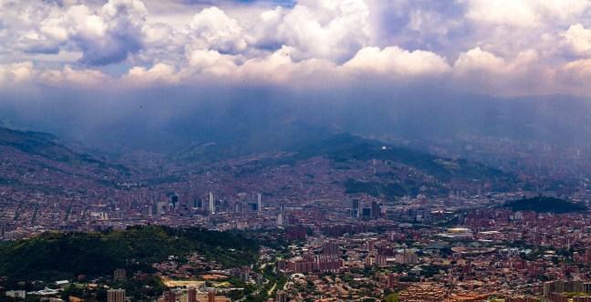 Vista a Medellín ciudad de Medellín, Antioquia, Colombia