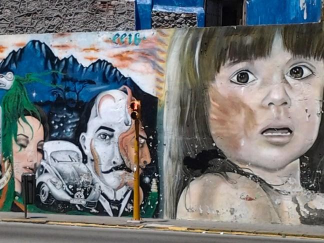Mural en las calles ciudad de Puebla, Puebla, México