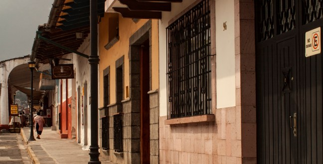 Camino al portal Xico, Veracruz, México
