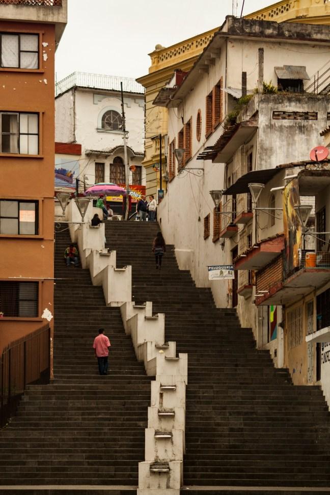 Escaleras de la calle Centro de Xalapa, Veracruz, México