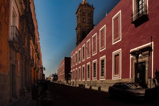 Las calles del centro Puebla, Puebla, México