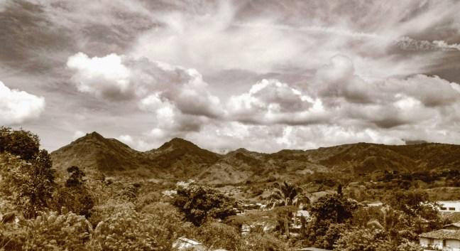 Vista del valle Supía, Caldas, Colombia