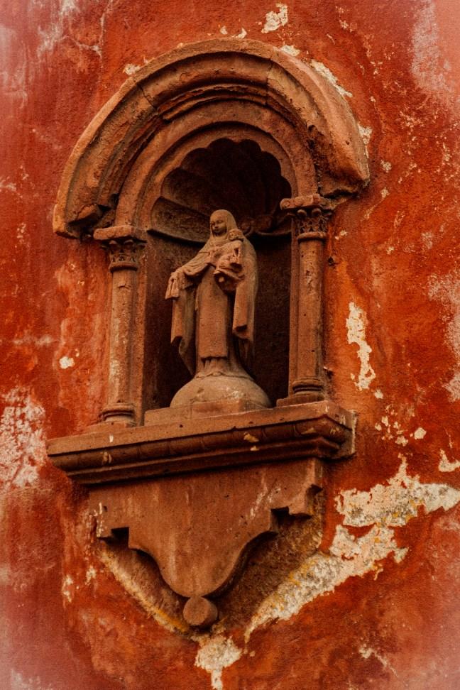 Detalle de la facha San Miguel de Allende, Guanajuato, México