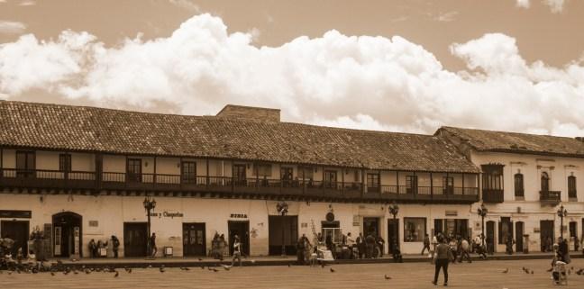 En la plaza Tunja, Boyacá, Colombia