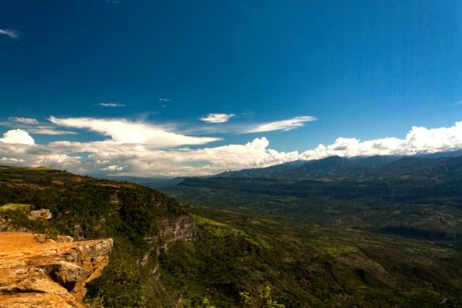 Vista del Cañón Salto del Mico, Barichara, Santander, Colombia