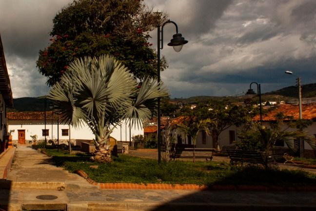 La plazoleta Zapatoca, Santander, Colombia