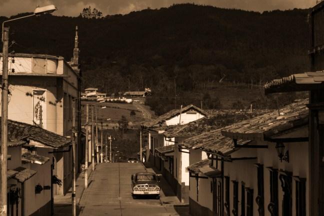 Al mediodía Zapatoca, Santander, Colombia