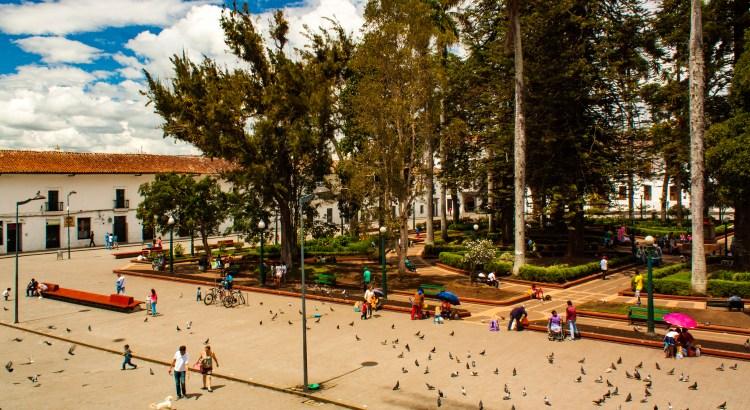 El Parque Caldas Popayán, Cauca, Colombia