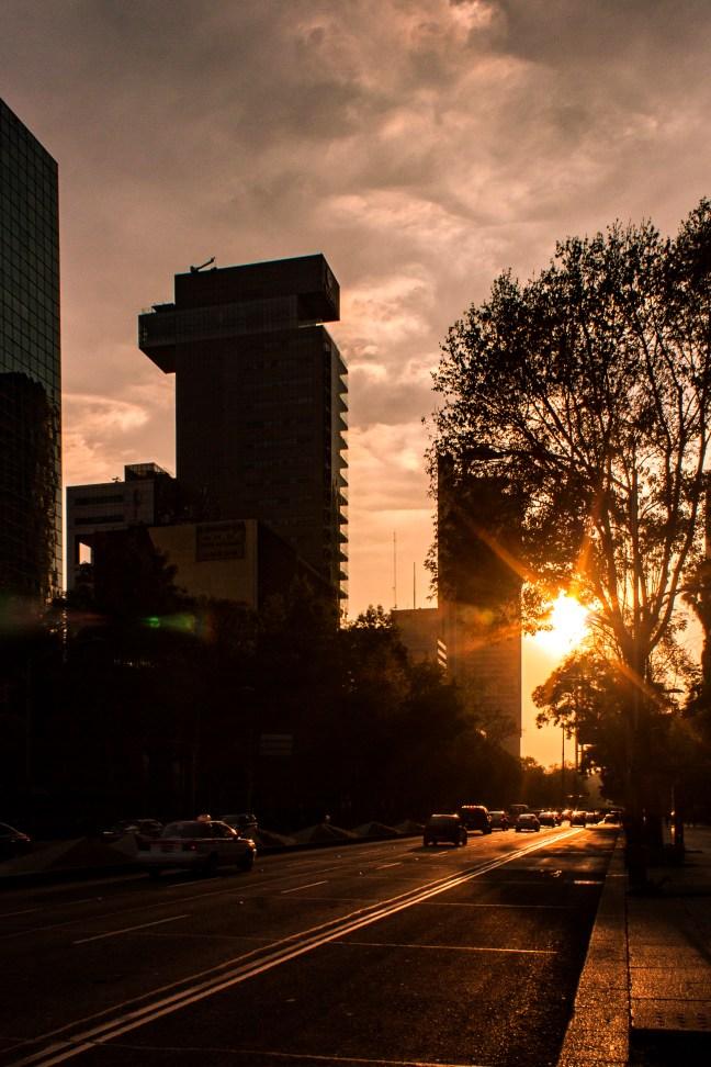 Atardecer ciudad de México, CDMX, México