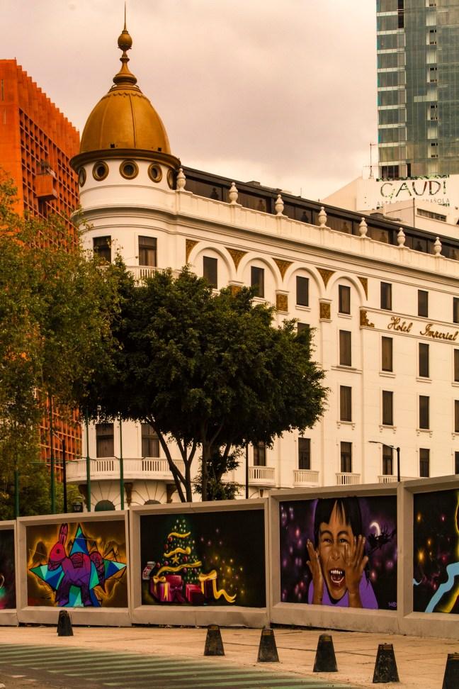 La glorieta Colón ciudad de México, CDMX, México