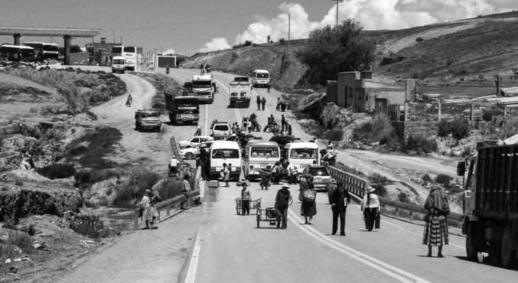 En la frontera Villazón, Potosí, Bolivia