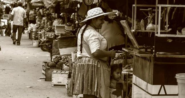 El mercado Samaipata, Santa Cruz, Bolivia