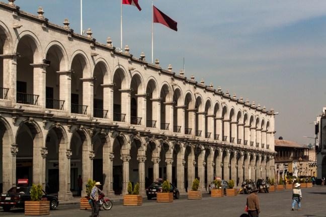 La Plaza de Armas ciudad de Arequipa, Arequipa, Perú