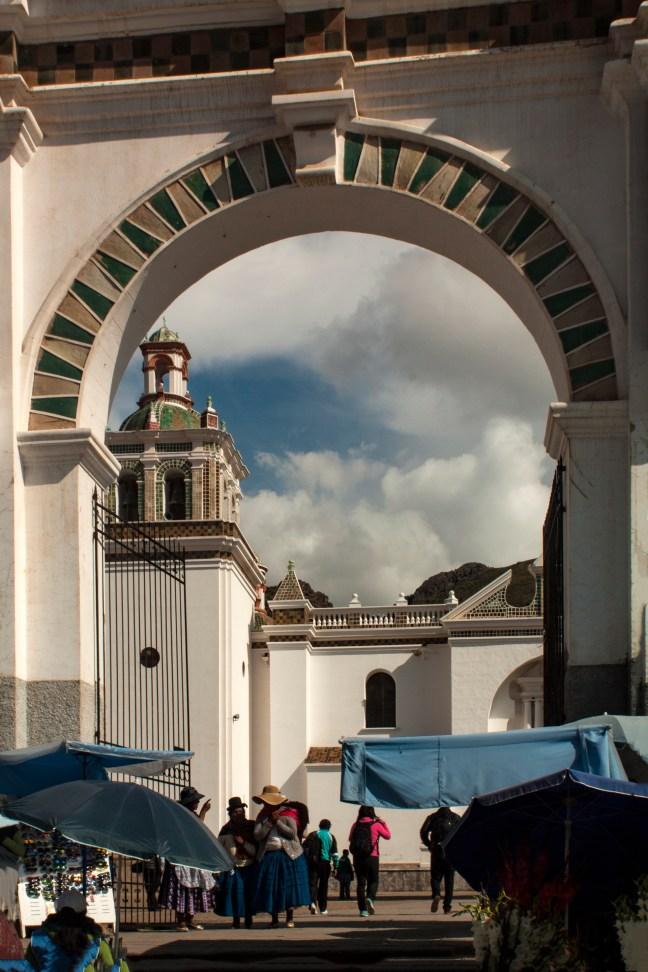 Portal a la Catedral Copacabana, La Paz, Bolivia
